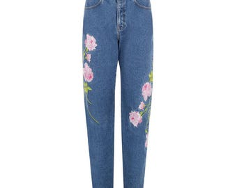 EMBROIDERED JEANS DENIM
