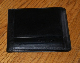 Vintage Complimentary Lufthansa Black Leather Wallet