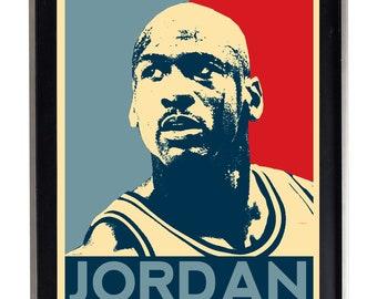 Michael Jordan Poster Obey style Print Matte Home Decor Bulls