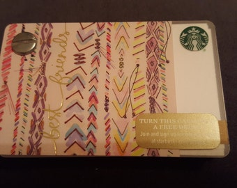 Starbucks Upcycled Refillable Giftcard Notebook - 2016 Best Friends