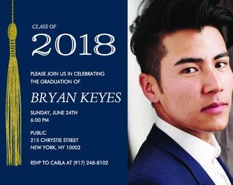 Graduation Tassel Invitation Announcement