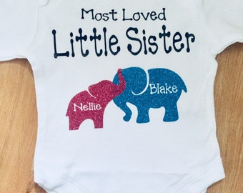 Little sister/little brother personalised vest