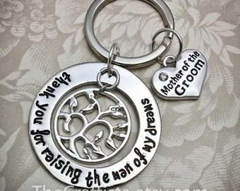 Mother of the Groom Tree Necklace, MOG 11, Mother of the Groom Gift, Mother of the Groom Keychain, Mother of the Groom Charms,  MOG Gifts