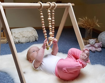 Baby gym, Scandinavian gym, Unfinished gym, Baby fitness studio,  Baby activity center, Montessori toy, Play gym, Activity arch