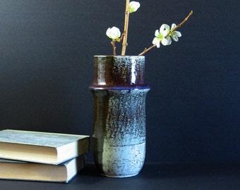 Vintage Ceramic Vase - Rörstrand Sweden Sylvia Leuchovius - Stoneware Vase Speckle Glaze - Mid Century Modern Art Pottery Neutral Home Decor