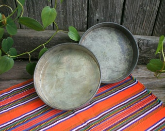 Two Vintage Metal 7 Inch Cake Pans