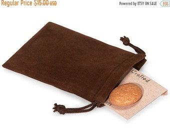TAX SEASON Stock up 50 Pack Chocolate Brown Velvet Drawstring Bags great for Weddings, Party favors, Jewelry, Etc