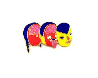 HEAD SPLICER Enamel Pin