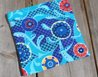 Reusable Snack Bag - Single Bag in Blue Paisley