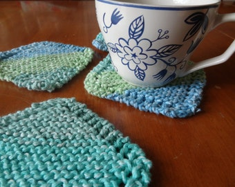 PDF file for knit coaster pattern. Simple Knit Coaster
