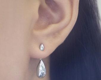 Silver Earrings, Ear Jackets, Silver Ear Jackets, Unusual Earrings, Silver Stud Earrings, Teardrop Earrings, Drop Earrings, Stud Earrings