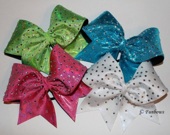 Beautiful Rhinestone Covered Hairbow - cheerleading - allstar by Funbows