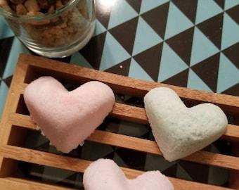 Heart Shaped Mini Bath Bombs 5 Pack