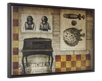 Red Chess - Horizontal Framed Premium Gallery Wrap Canvas Size: 30″ × 20″