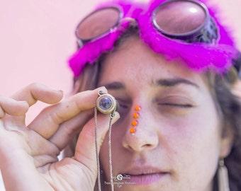 Mini Teleidoscope, Burning man Accessory, Fantasy Traveller, Festival Accessories