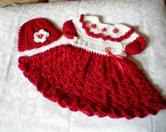 Baies rouge robe de fête pour les 12 à 18 mois