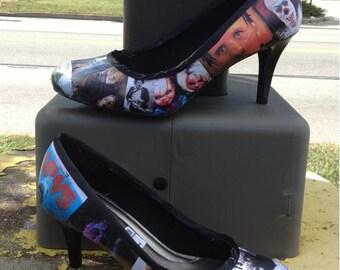 Horror Movie Themed Custom Heels
