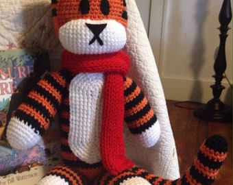Tiger Stuffed Animal (Handmade, Crochet)