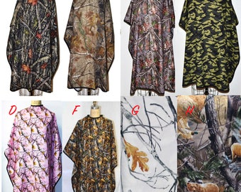 Updated Jan 2018_New Capes_Pink Camo, Flowered or True Timber, Real Tree or Woodland Camo Barber/Hairstylist Cape