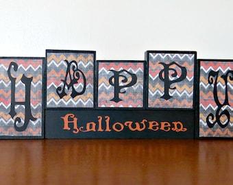 Happ Halloween Block Set, Halloween block set, halloween decoration, wooden blocks, small block set,
