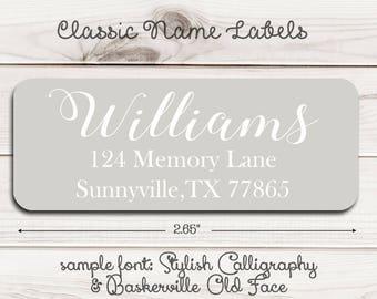 Classic Name Return Address Labels