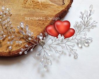 Bridal hair vine Rose Gold hair accessories Crystal hair vine Wedding Hair Vine braut haarkam Greek goddess headband Bridal hair vine