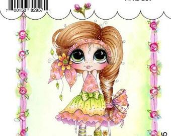 My-Besties Clear Rubber Stamp Big Eye Besties Big Head Dolls Anna Bell MYB-0205  By Sherri Baldy