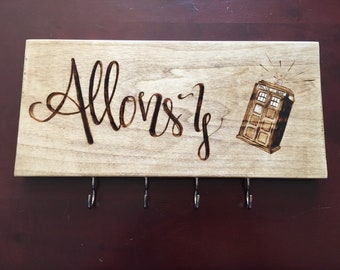 Doctor Who Inspired 'Allons-y' Key Rack