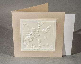 Carte postale graphique en relief «Fraises sauvages»