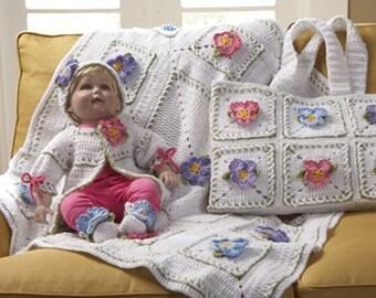 Pansy Layette Crochet Pattern PDF