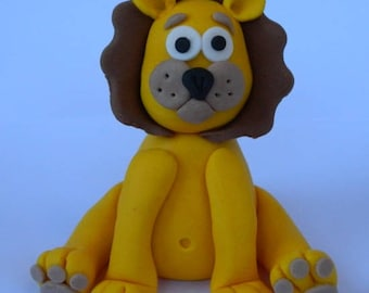 1 edible 3d CUTE LION cake decoration topper jungle animal gumpaste sugarcraft baby shower birthday