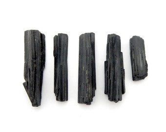 Black Tourmaline-- Natural Tourmaline Rod from Brazil By Piece, Purchase 1, 5, 10, 25, 50, or 100 pieces (OB7B7)