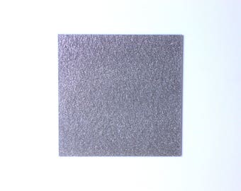 2mm Silver light glitter acrylic perspex sheet 600x370 mm