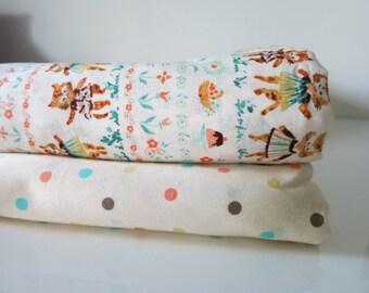 Dancing Cats - Japanese Cotton fabric - Fat Quarter Bundle