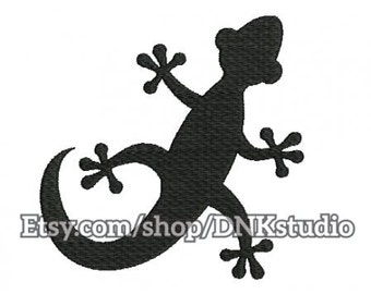 Gecko Lizard Salamander Reptile Embroidery Design - 4 Sizes - INSTANT DOWNLOAD