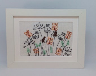 Free Motion Machine Embroidered Picture