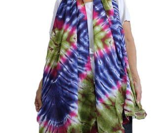 Blue Red Chic Women's Fashion Long Wrap Scarves Soft Wrap Scarf Tie Dye Cotton Shawl /Scarf /Wrap Accessories (18)