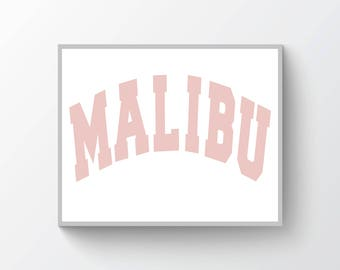 Malibu  Art Print, Modern Poster Print, Dorm Decor, Apartment Décor, Gift for Men, Gift for Women, Home Décor, Wall Art, Print [WA97A]