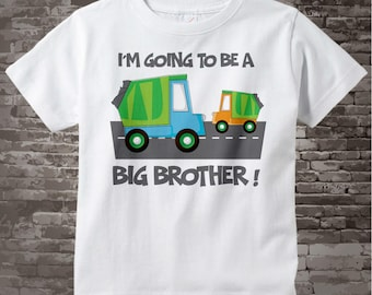 Garbage Truck Big Brother Shirt or Onesie - Big Brother t-shirt - I'm going to be a Big Brother Shirt - Announcement Shirt - 05262012a