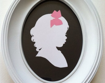 Silhouette Frame 5x7 Solid White