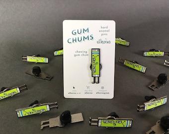 Gum Chum enamel badge pin *Chewing Gum*