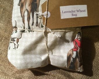 Horse and hound fabric lavender wheat bag