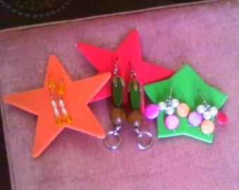 Earrings.....3 pairs
