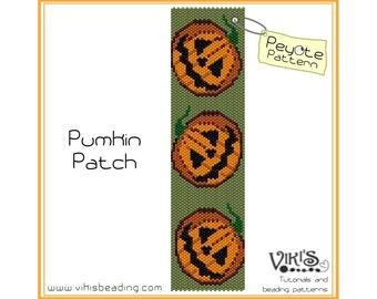 Pattern for Peyote Bracelet: Pumpkin Patch - INSTANT DOWNLOAD pdf - New Discount codes
