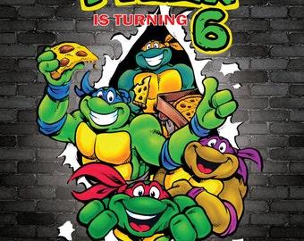 Ninja Turtle Birthday Invite