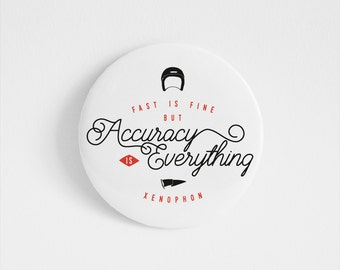 Xenophon, Greece, accessory, Inspirational Quote, Greek Philosophy, Black, Red,Fast, vintage typography, Illustrated pin, Motivational print