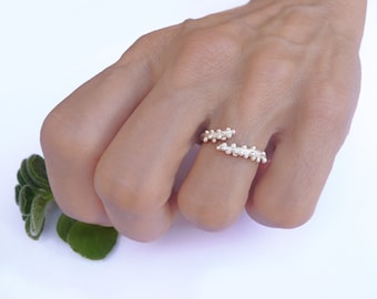 925 Sterling Silver Twig ring, Silver Adjustable ring, Silver Twig Ring, Nature Jewelry, Sterling Silver Ring, Twig Ring, Silver Jewelry