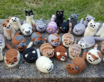 Custom Needle Felted Cats