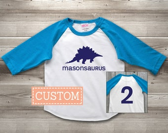 Personalized Dinosaur Birthday Shirt, Custom Dinosaur Birthday Shirt, 2nd Birthday Shirt Boy, Second Birthday Shirt Boy, Dino Birthday Shirt