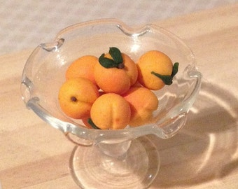 Dollhouse Miniature Food - Miniature polymer clay peaches